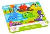 Dinosaur Wooden Chunky Puzzle - Tooky Toy